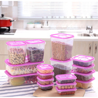 17 Pcs/Set Airtight Food Storage Container With Lid Vacuum Seal Cereal Pasta Rice Food Box