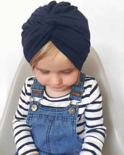 2019 marke Neue Neugeborenen Baby Turban Kleinkind Kinder Jungen Mädchen Baumwolle Blends Hut Schöne Weiche Nette Solide Knoten Beanies baby Geschenke