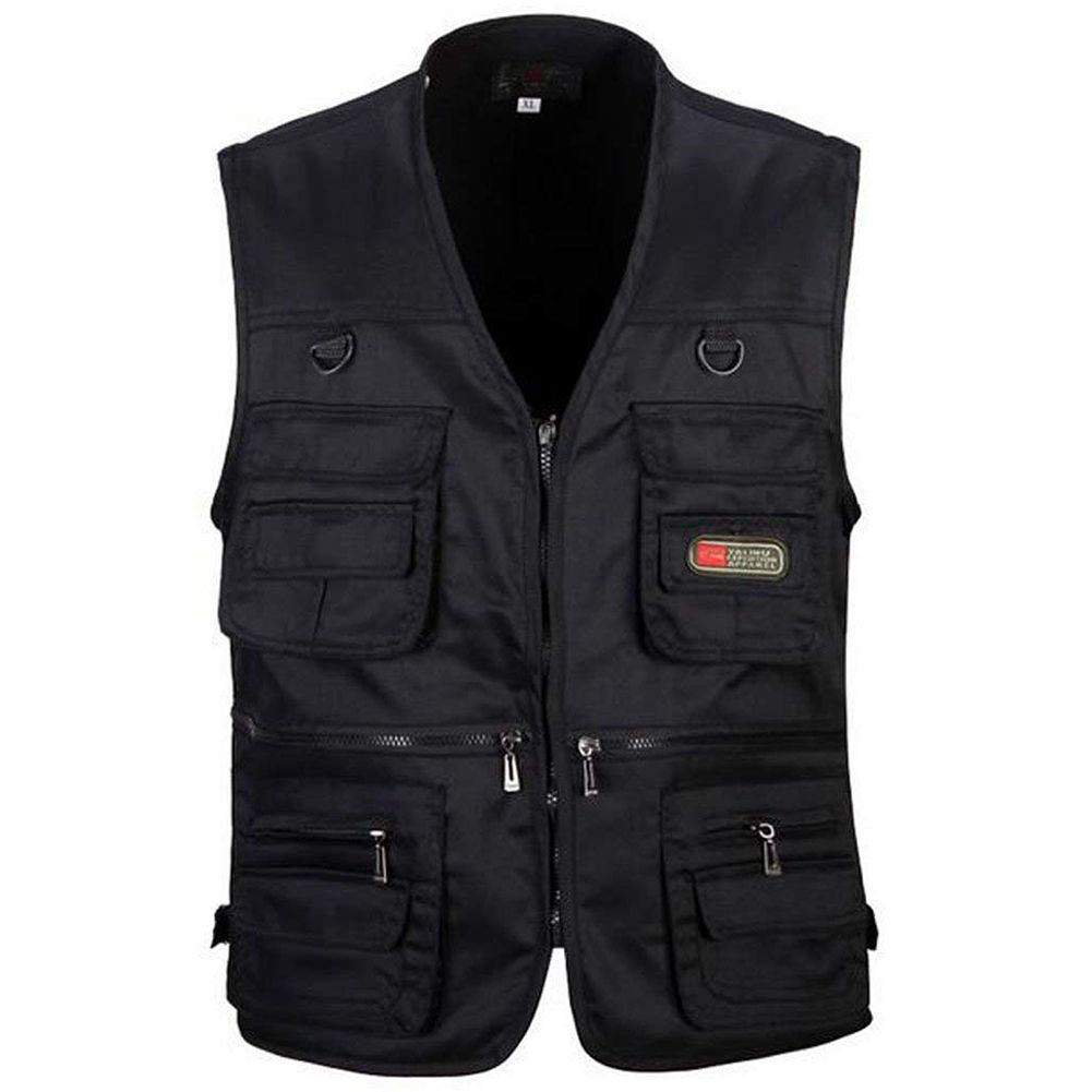 Men's Outdoor Vest with Multi-Pocket Zip for Photography / Hunting / Travel  Outdoor Sport