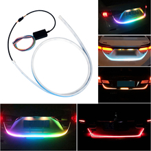 Car Rear Trunk LED Strip Tail Light Dynamic Streamer Warning Flowing Turn Signal Reverse Lamp 12V RGB IP68 Tailgate strip