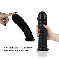 8 inches Super Big Dildo Long King-Sized Anal Plug Shocker Huge Penis With PVC Sucker Black Dick Adult Sex Toys For Women Men