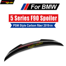 F90 M5 Spoiler Rear Trunk Wing Tail AEPSM Style Carbon fiber For BMW 520i  Auto Car Styling 2019+
