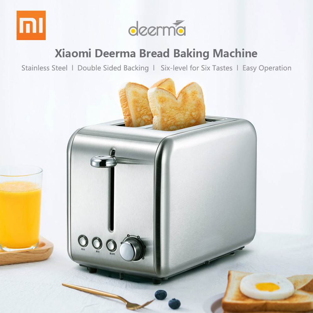 Xiaomi Deerma Bread Baking Machine Electric Toaster Household Automatic Breakfast Toast Sandwich Maker Reheat Kitchen Grill