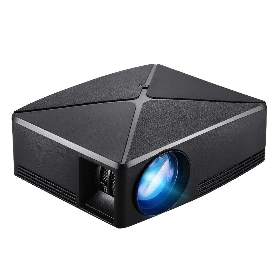 Mini projecteur LED Portable C80, projecteur de jeu vidéo de cinéma maison Usb Hdmi (prise ue) de base