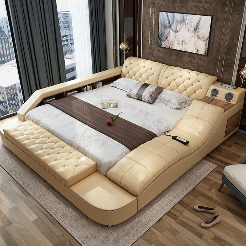 Fancy Modern Style Bedroom Sets With Massage And Speaker Bedroom
