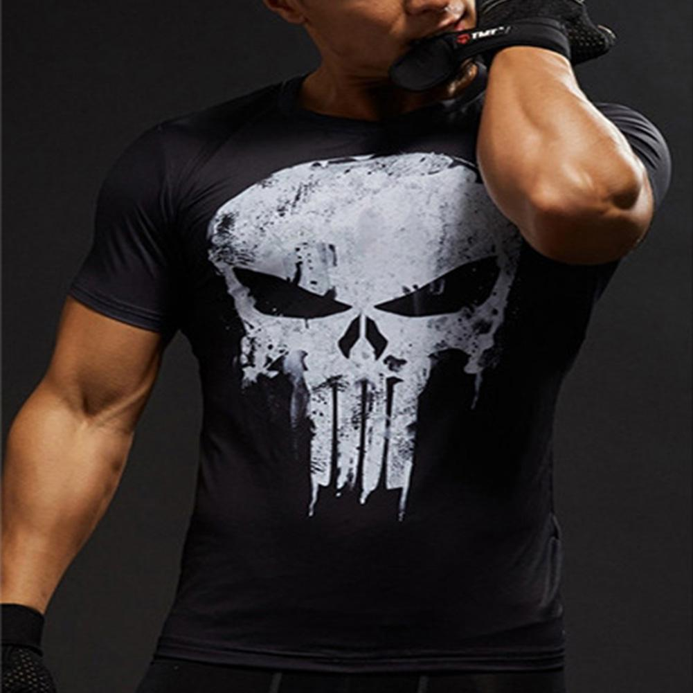 Short Sleeve T Shirts Men Women Skull Pattern Round Collar T Shirt America Superman tshirt fashion Streetwear t shirt men shirt in T Shirts from Men 39 s Clothing