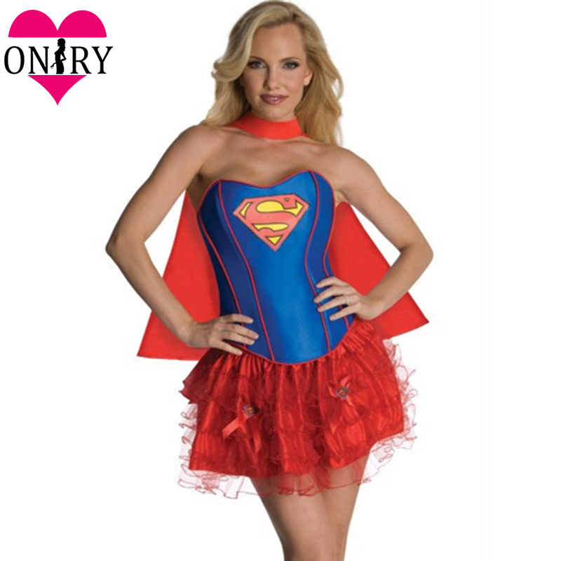 Carnival Party Adult Cosplay <font><b>Sexy</b></font> Superwoman Costume Superhero Dress Women <font><b>Halloween</b></font> Costumes <font><b>Disfraces</b></font> Adultos Disfraz Mujer image