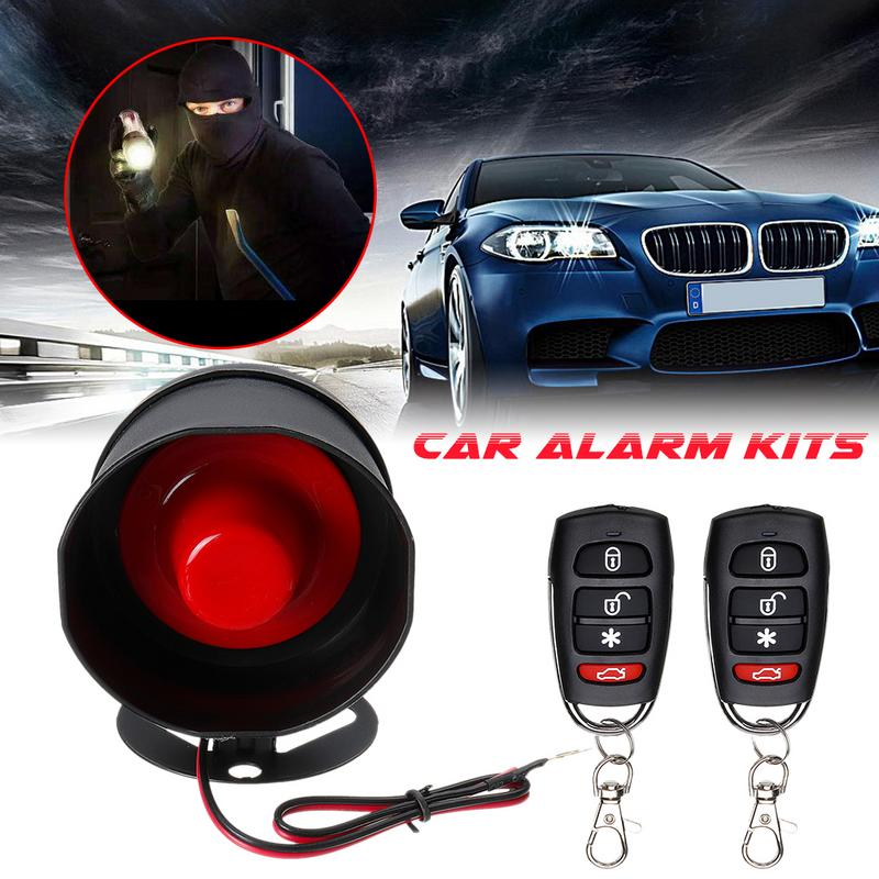 Remote Car Alarm Keyless Entry Security With 4 Door Power Lock Actuator Motor Kit Car Safety Alarm System