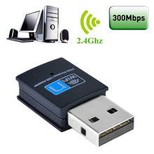 OcioDual 300 Мбит/с USB Wi-Fi беспроводной адаптер ключ USB2.0 сетевая карта для ПК ноутбук черный