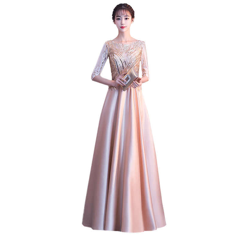 922241d209446 Popodion Evening Dress Party Dress Sequin Gown Evening Dresses Long Formal  Dress Women Elegant N1051