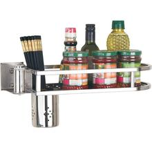 Sink Cosina Especias Almacenamiento Keuken Stainless Steel Rotate Cuisine Rack Mutfak Cocina Organizador Kitchen Organizer