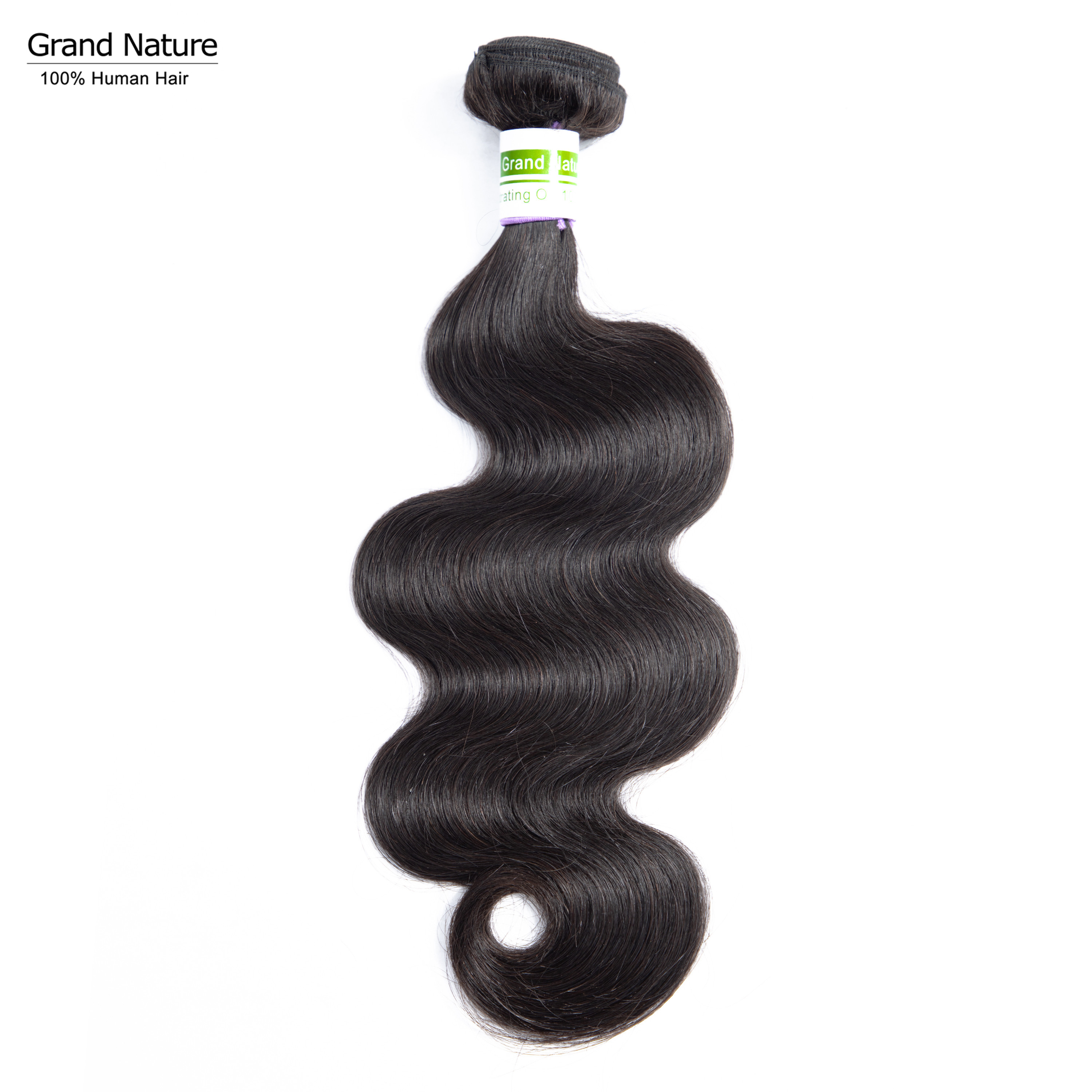 Grand Nature 10A Virgin Hair Weaves Brazilian Body Wave Human Hair One Bundle Natural Black One Donor Can Be Dyed And Bleached(China)
