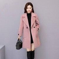 Plus Size 4XL Woolen jacket Women's clothing Winter Autumn Double Wool Clothing 2019 New Elegant Women Jackets And Coats AS214
