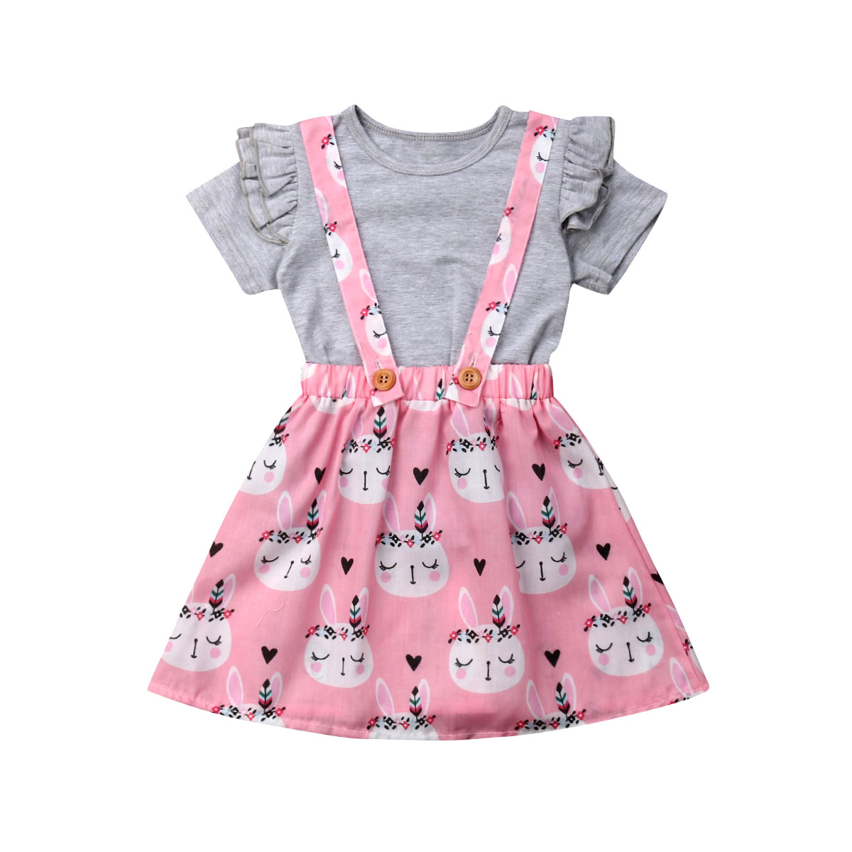 >2019 Easter Toddler Kid Baby <font><b>Girl</b></font> Bunny <font><b>Soft</b></font> Clothes Tops Shirt Tutu Skirt <font><b>Outfits</b></font> Set Summer Clothes