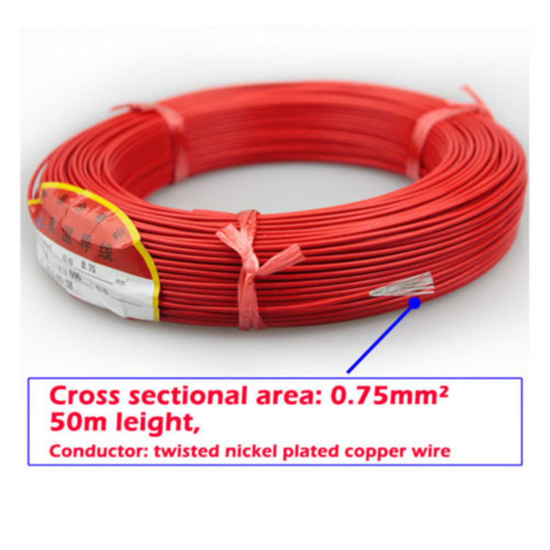 50M Roll 0.75mm Coil Wire Cable Loop Detector Cable Wire