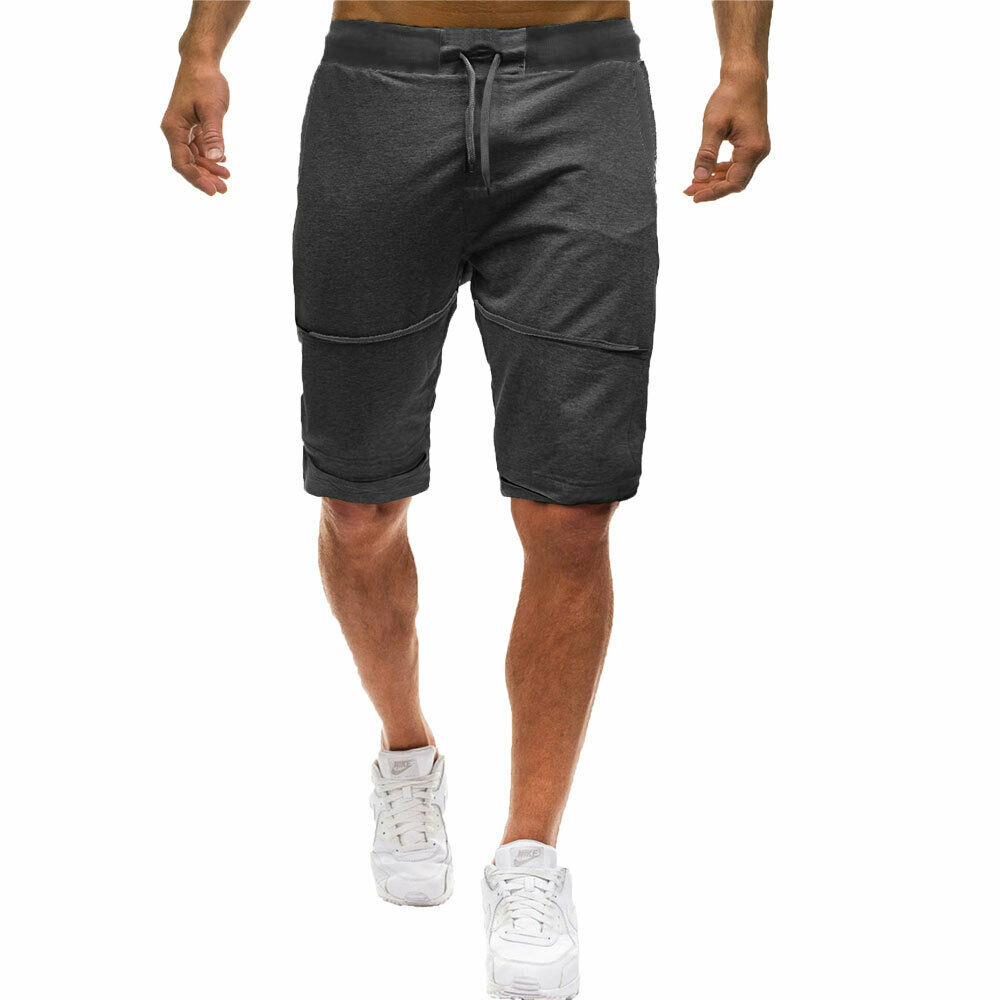Men's Casual Shorts Elastic Waist Drawstring Shortpants  Fitness Jogging Sportswear Workout Shorts Male Summer