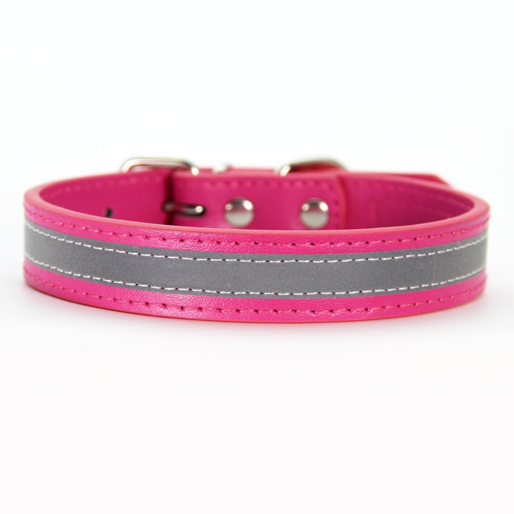Reflective Dog Collar Adjustable XS S M L Size Dogs travel safely at night for Small Dog Cat Medium Necklace Strap Pet Product in Collars from Home Garden