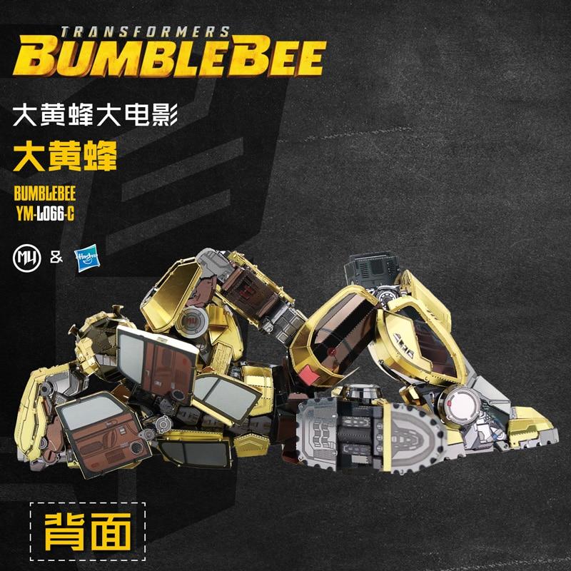 MMZ MODÈLE MU 3D Métal Puzzle Bumblebee T6 Film version Modèle DIY Laser Cut Assembler Puzzle Jouets De Bureau décoration CADEAU pour enfant - 4