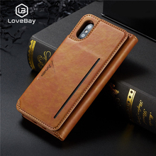 Lovebay Phone Case For Iphone XS Max XR X Flip Cases Leather Wallet Purse Mobile