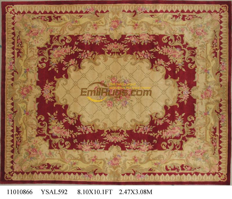 Haut à la mode Tapete détails environ 8.1 'X 10.1' noué à la main épais peluche Savonnerie tapis tapis fait sur commande ysal592gc88savyg2