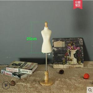 Black sewing jewellery Woman Half body mannequin profissional,mini 1:4 scale Teaching tailor wood manikin Disk base canPinM00022