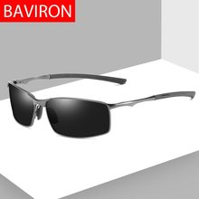1db682eaa3d BAVIRON Metal Rectangle Polarized Sunglasses Men Brand Designer Drive  Sunglasses Man Vintage Polariod Sun Glasses Classic