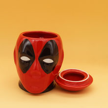 New Hot 401-500ml Mug Cartoon Marvel Comic Die Paternity Ceramics Marc Cup Deadpool Mug Glass 3d Ceramics Coffee Cup ForBirthday(China)