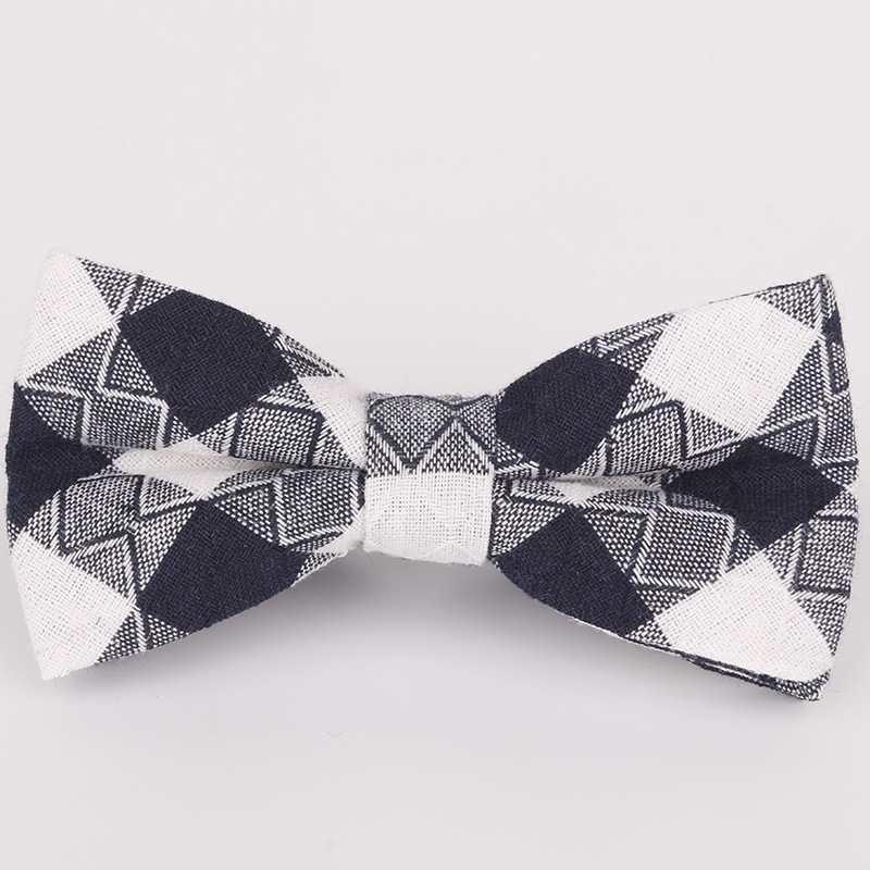 Boy's Tie Boy's Accessories Sensible 2019 New Spot Childrens Bow Tie Cotton Cotton Small Plaid Children Show Photo Shirt With Baby Bow Tie Flower