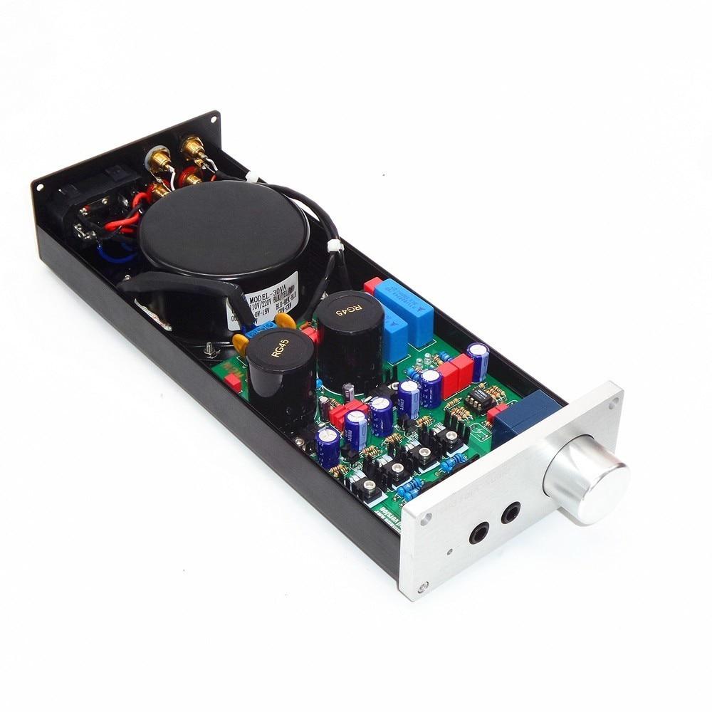 Copy Lehmann Circuit Diagram E-01 Audio Stereo Headphone Amplifier Dual Headphone Output Preamplifier