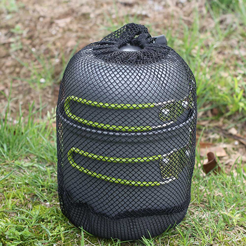 2PCS / SET Portable Outdoor Cooking Set Anodised Aluminum Non-stick Pot Bowl Cookware Picnic Hiking Camping Equipment