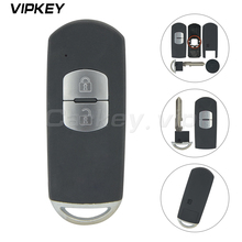 Remotekey for Mazda 3 6 CX-3 CX-5 Replacement 2 Button Smart Remote Car Key Shell Case Fob with Uncut Blade free shipping new replacement 2 button remote headed keylessentry ignition car fob uncut for nissan 1piece
