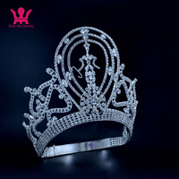 Mo134 Lager Adjustable Miss Univer Classic Princess Hair Jewelry Accessories For Party Prom Shows Headwear Pageant Crown Tiaras