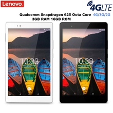 Lenovo P8 Tab3 8 Plus 4G Tablet PC Android 6.0 8.0 Inch Snapdragon 625 Octa Core 2.0GHz 3GB RAM 16GB ROM Dual Camera Bluetooth