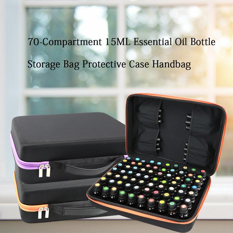 70 Essential Oil 15ML Storage Bag Essential Oil Bottle EAV Organizer Waterproof Shell Storage Box Large