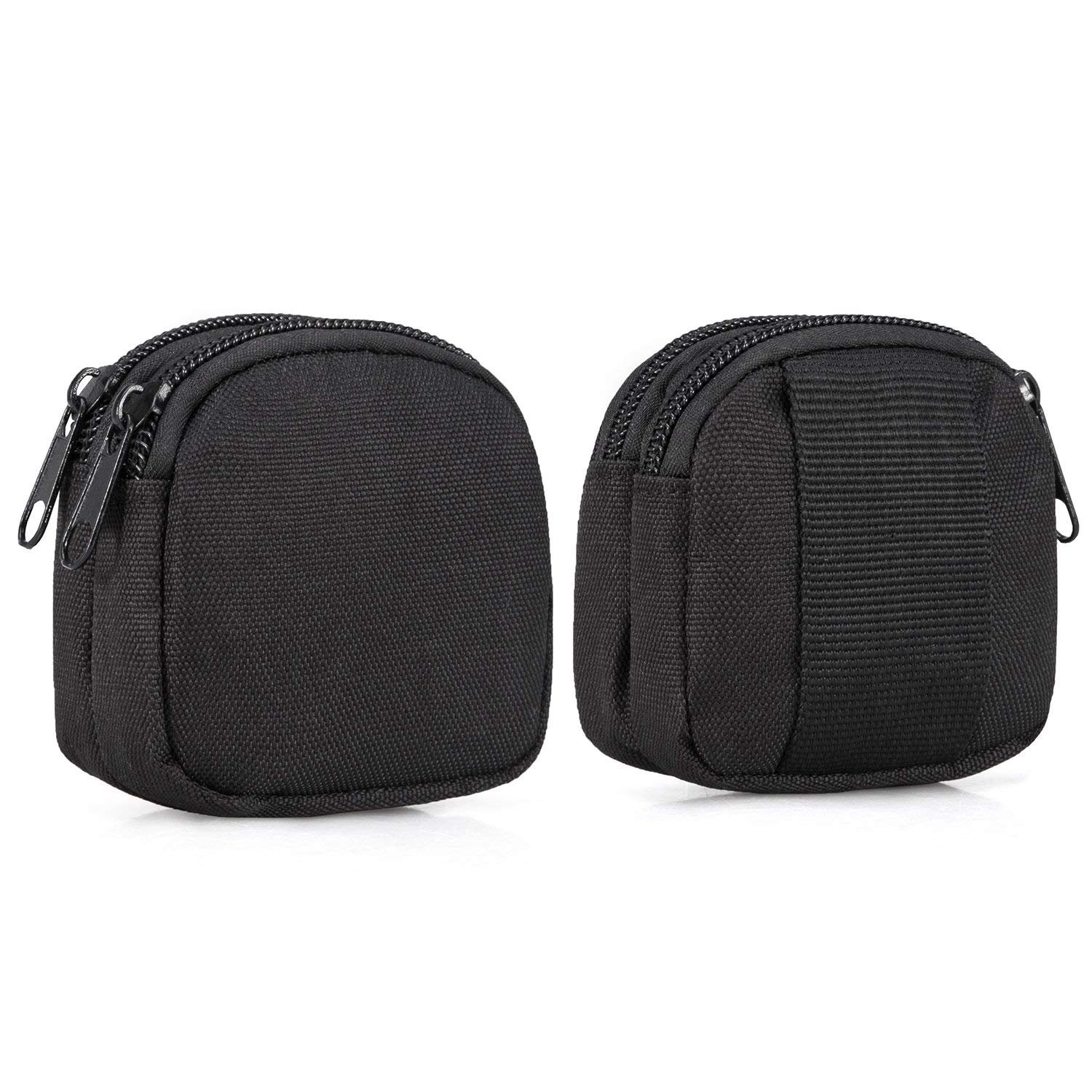 dual Layer Pockets Impartial Small Outdoor Pouch,mini Purse Organizer Army Molle Gear Nylon Edc Utility Gadget Outdoor Wais waterproof
