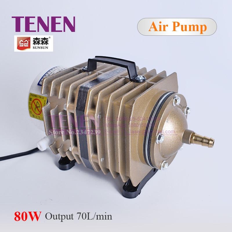 Electromagnetic Air Compressor 70L Min ACO 005 SUNSUN Air Pump 80W With Check Valve Air Stone