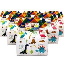 24 шт./лот коробка конфет коробки для тортов и пирожных подарочные пакеты для детей пижама с динозавром тематический Дино вечерние Baby Shower вечерние украшения вечерние свадебный