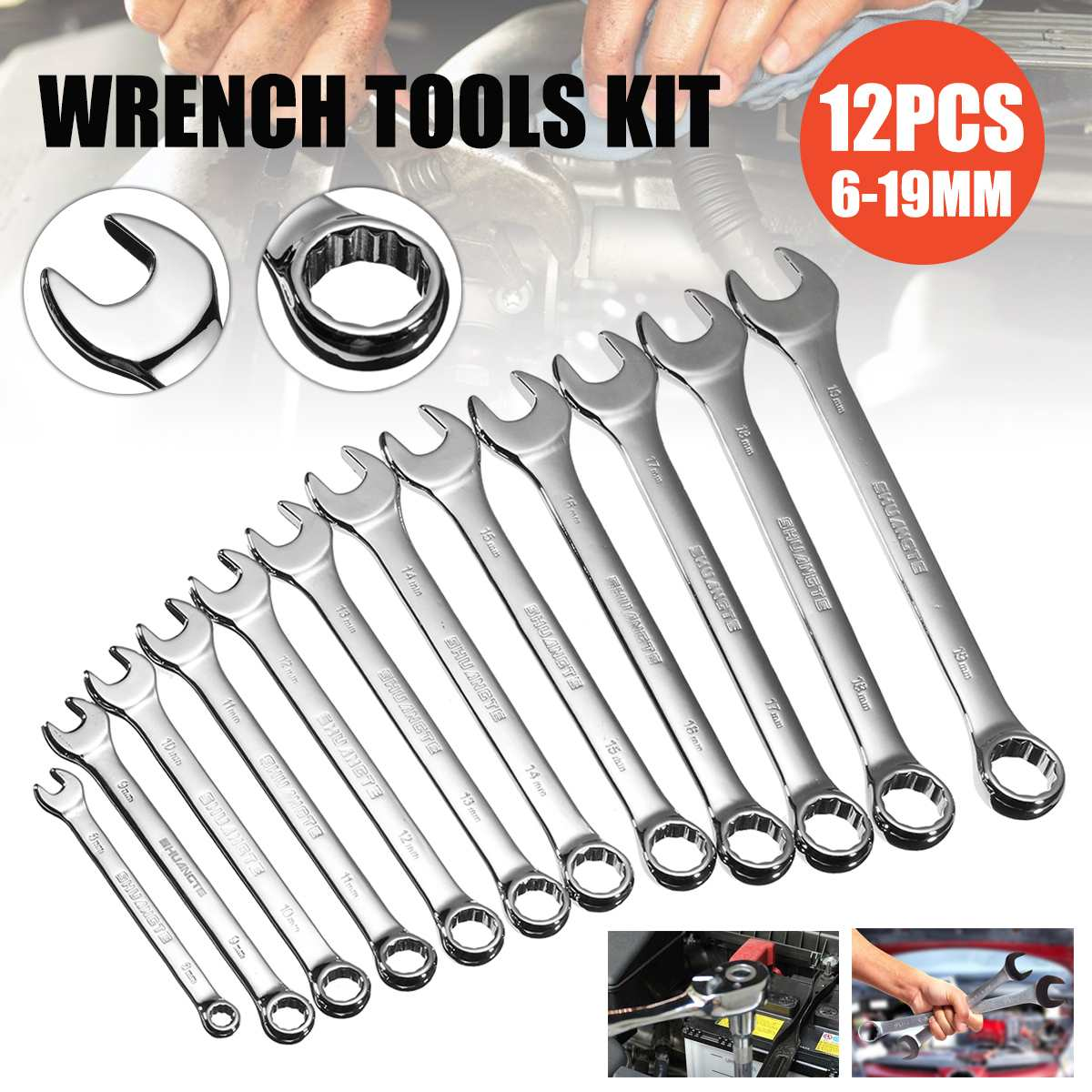 Multitool Key Ratchet Spanners Set of Tools Set of Wrenches Universal Wrench Tool for Car Repair Car Tools|Wrench| |  - title=
