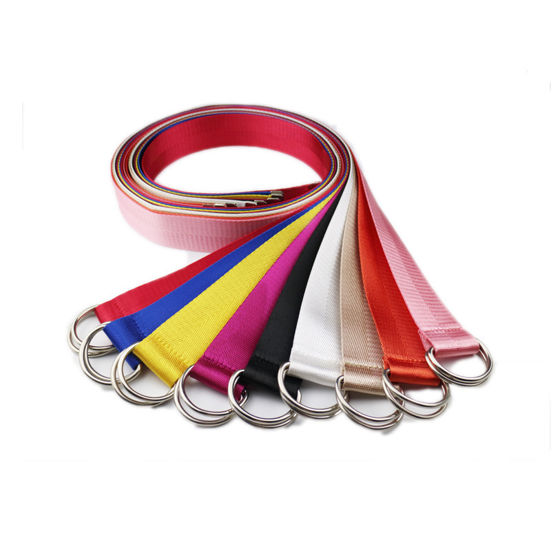 130cm Long D Ring Buckle   Belt   Harajuku Zipper All-match Ultra Long Canvas   Belt   Lovers Brief Solid Color Long   Belt
