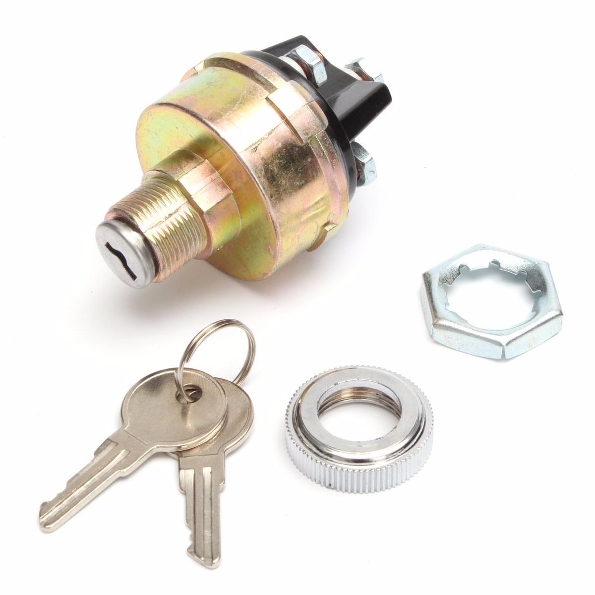 Nuevo cilindro de encendido interruptor de bloqueo y 2 llaves para Jeep CJ3 CJ5 CJ5A DJ5 CJ6 DJ6 CJ6A KS6180 US14 UN148 CS7UL3 S11