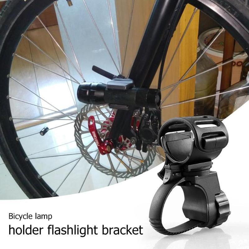 360° Rotating Bike Bicycle Ligjht Mount LED Flashlight Torch Holder Clamp Clip