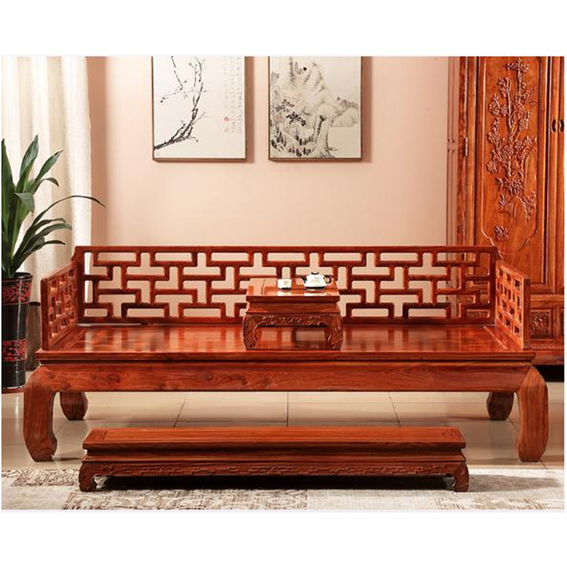 US $12333.68  living room furniture Antique Sofa Bed Wooden furniture for  livingroom wood couch recliner sofas set Ming and Qing Classical-in Living  ...
