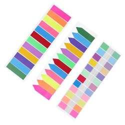 12 цветов Стикеры-закладки блокнот Этикетка Бумага Закладка стикер Поставки