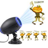 LED Halloween Projector Light,Outdoor Waterproof Landscape Lighting GIF Slide Christmas Lights for Party Thanks Giving Birthda
