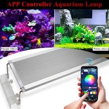 hot deal buy 50-70cm rgb aquarium led lighting extendable bracket led lamp for aquarium led light fish tank clip on leds aquarium lighting