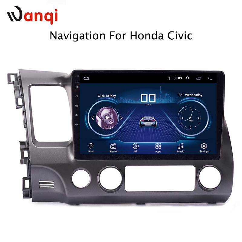 Android 8.1 Car Audio Player 10.1 inch For Honda civic 2004 2011 Car GPS Navigation With HD Screen,Playstore,Wifi
