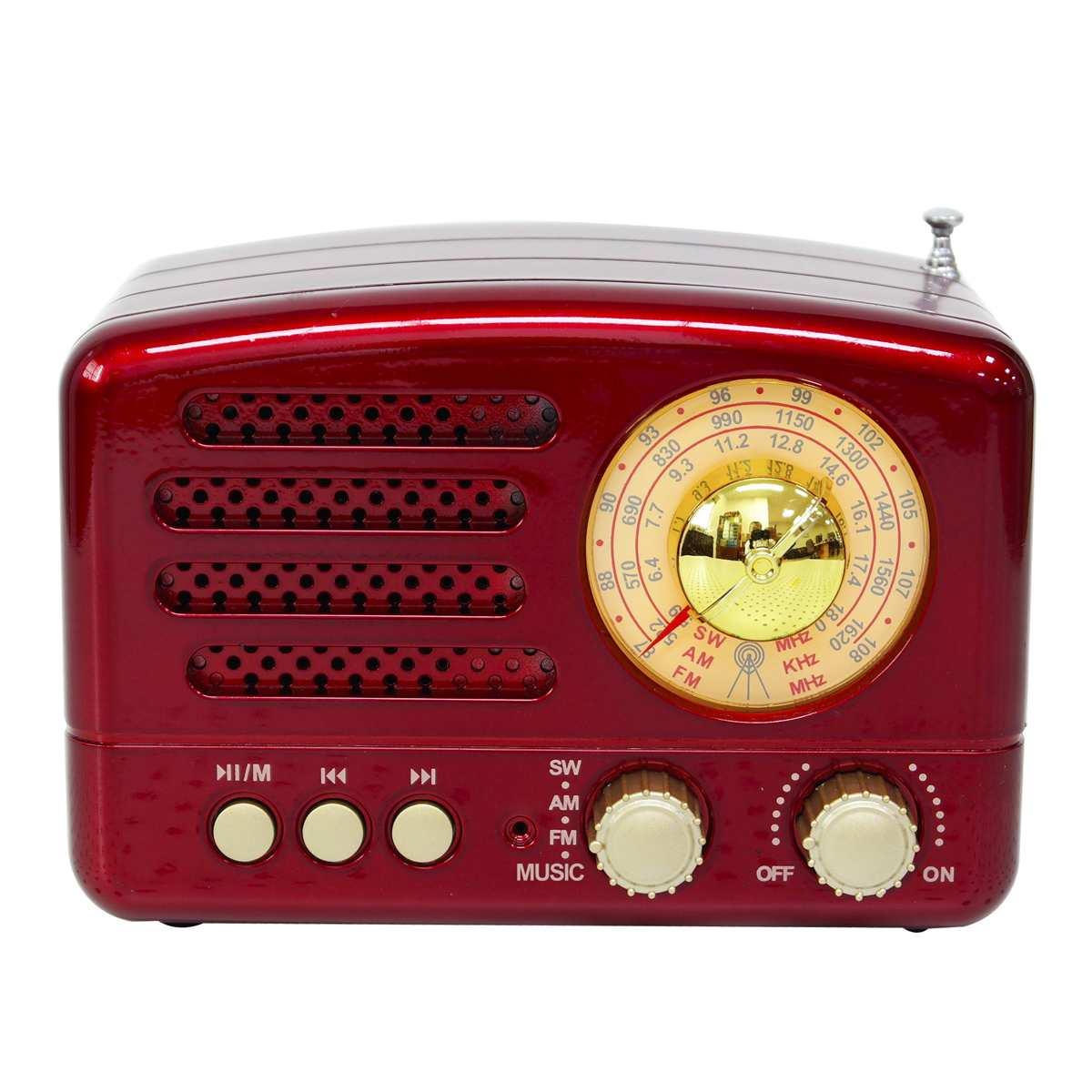130x90x70mm Rot/Kaffee Tragbare Vintage Retro Radio AM FM SW bluetooth Lautsprecher TF Karte slot USB Lade Home Reise Mini Radio