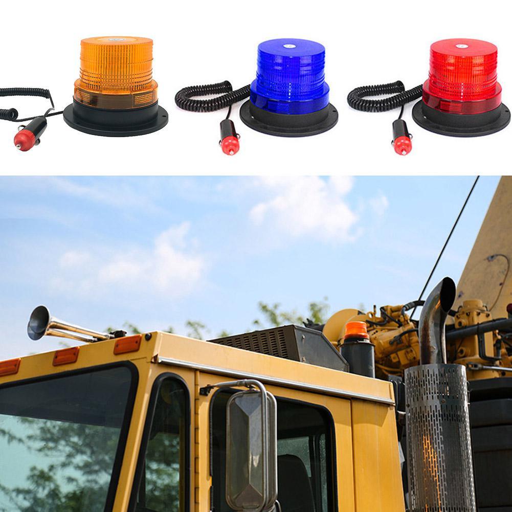 Litake 12V/24V LED Car Truck Strobe Warning Light Police LED Flashing Emergency Lights Beacon Lamp With Magnetic Mounted