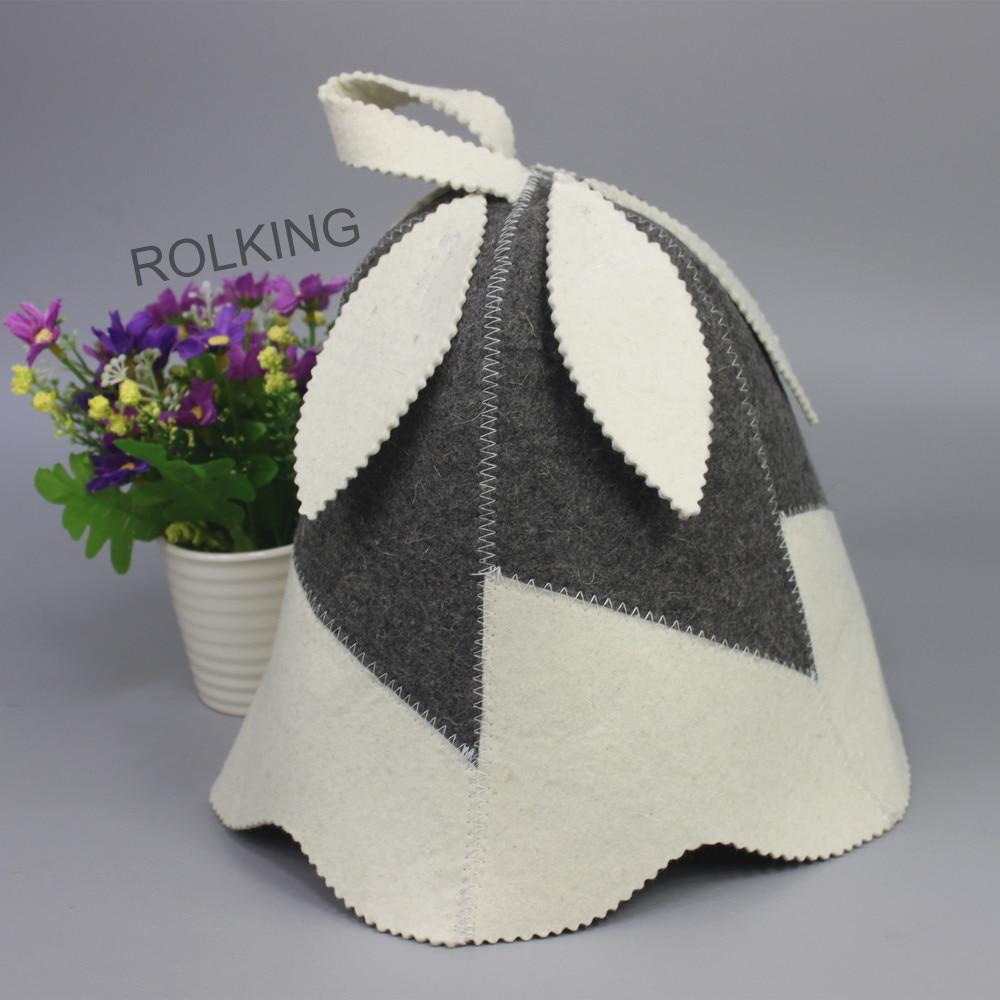 gyönyörű levelek design szauna érezte kalap / gyapjú érezte kalap