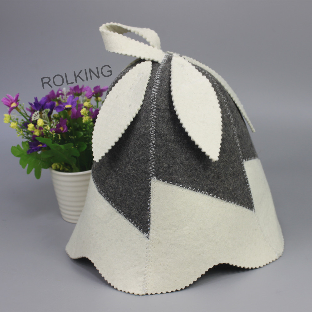 sauna desain daun yang indah merasa topi / topi wol - Barang-barang rumah tangga